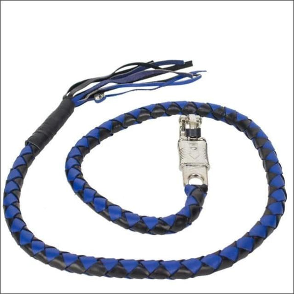 50 Inch Long Black And Blue Get Back Whip - Motorcycle Get Back Whip