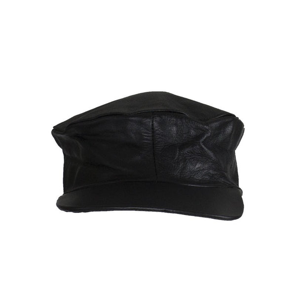 Leather Motorcycle Cap