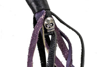 fire-lilie,Purple & Black Get Back Whip For Motorcycles,Motorcycle Get Back Whip,Dealer Leathers Wholesale