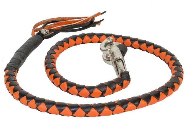 Orange & Black Get Back Whip for Motorcycles
