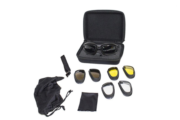 fire-lilie,Deluxe Goggles Set With Carrying Case & Changeable Lens,Biker Glasses,Dealer Leathers Wholesale