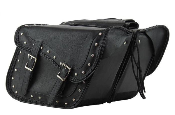 fire-lilie,Motorcycle Saddlebag with Gun Holsters,Saddle Bags,Dealer Leathers Wholesale