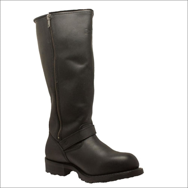 Backordered 1443ZIPPER Mens 16 Engineer Soft With Side Zipper - Mens Leather Motorcycle Boots