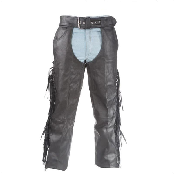 Chaps With Braid & Fringe - Mens Chaps
