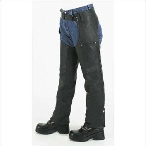 Kids Leather Chaps With Front Pockets - Kids Leather Motorcycle Chaps