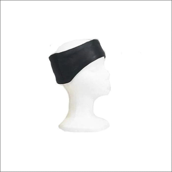 Leather Band With Velcro Strap That Covers Forehead & Ears - Head wear