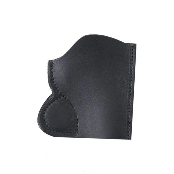 Magnetic Black Leather Gun Holster - Leather Gun Holster
