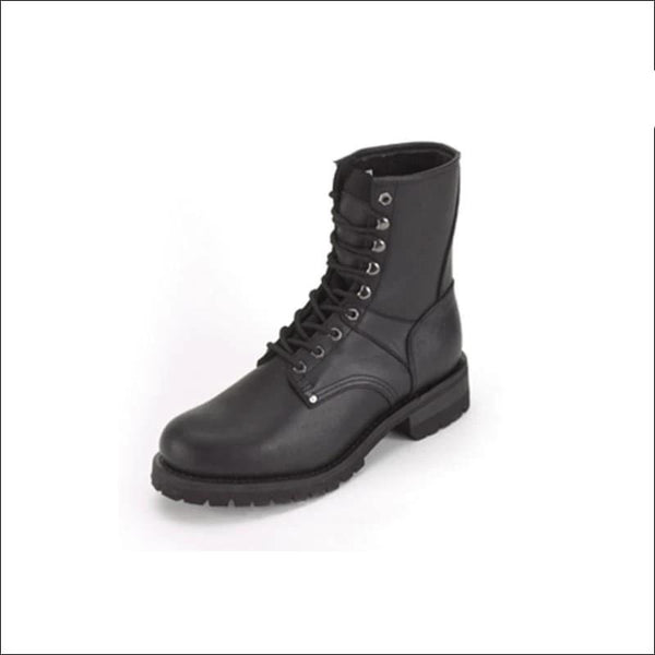 Mens Biker Boots With Laces Up Front - Boots