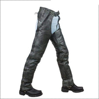 Naked Gray Cowhide Leather Chaps - Mens Motorcycle Chaps