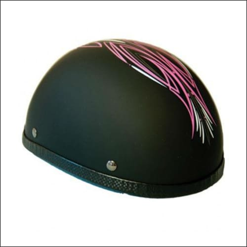 Novelty Eagle Pink Perewitz/Flat Black - Non- DOT - Womens Motorcycle Helmet