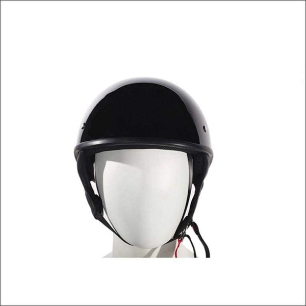 Shiny Black Finish DOT Approved Motorcycle Helmet - DOT Helmet