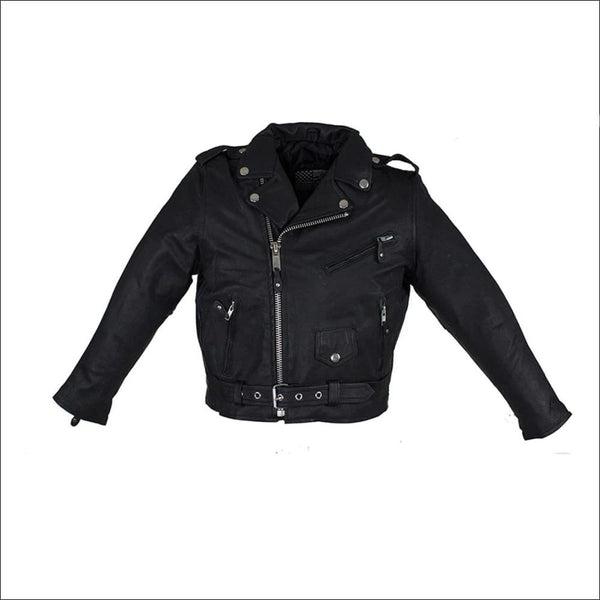 Teens Leather Motorcycle Jacket - Kids Leather Motorcycle Jacket