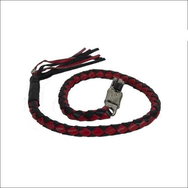 Thick 42 Red & Black Get Back Whip for Motorcycles - Motorcycle Get Back Whip