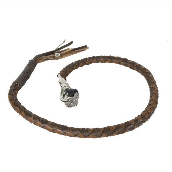 Two Tone Brown Get Back Whip for Motorcycles - Motorcycle Get Back Whip