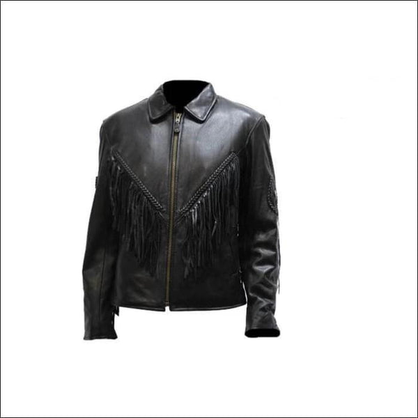 Womens Jacket With Conchos and Fringe - Womens Leather Motorcycle Jacket