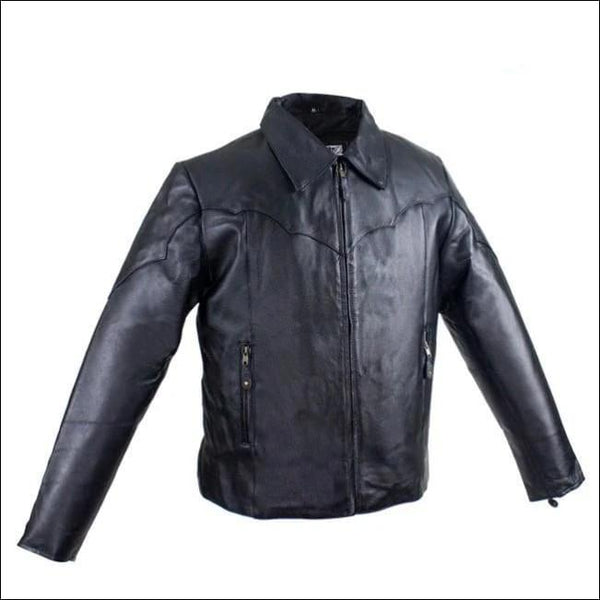 Womens Motorcycle Jacket With Zippered Cuffs - Womens Leather Motorcycle Jacket