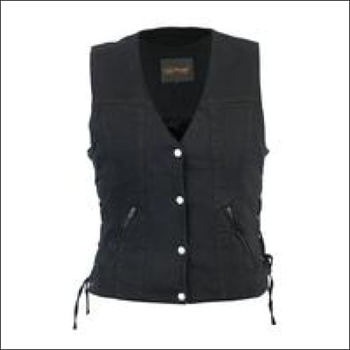 Womens Single Back Panel Concealed Carry Denim Vest - Womens Concealed Carry Vest