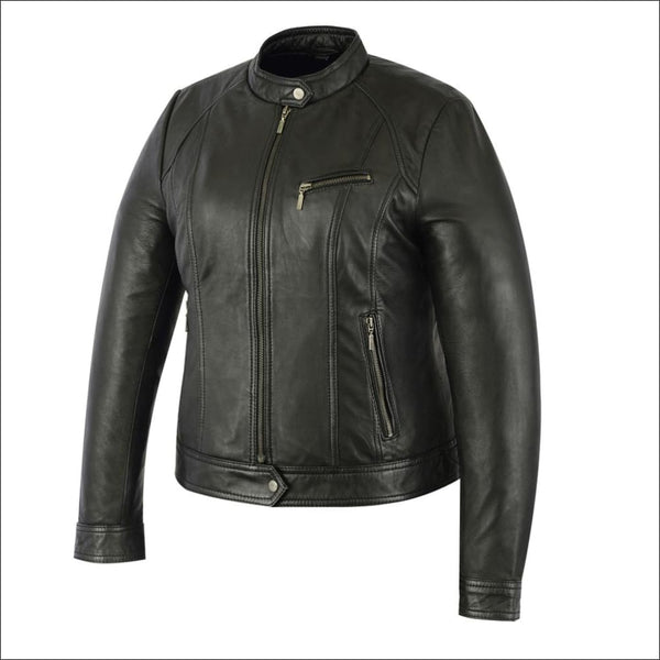 Womens Stylish Fashion Jacket - DS842 Womens Lightweight Drum Dyed Naked Lambskin Jacket