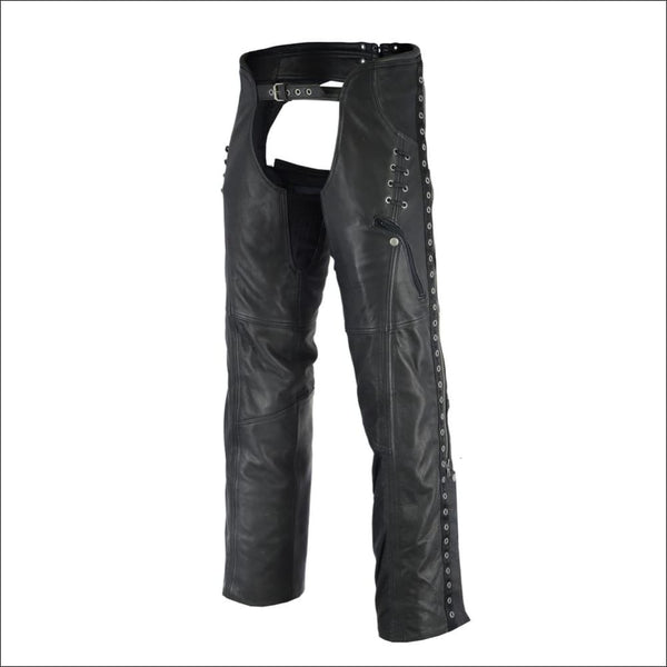 Womens Stylish Lightweight Hip Set Chaps - Womens Leather Motorcycle Chaps