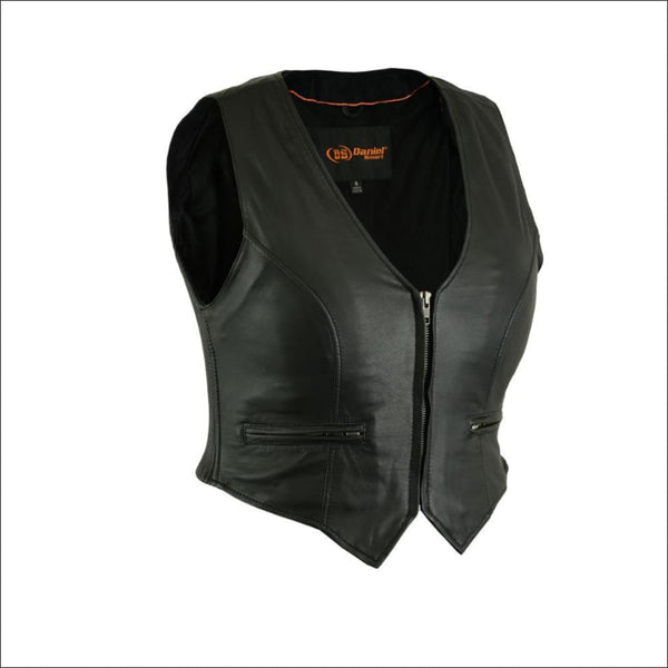 Womens Stylish Lightweight Zipper Front Vest - Womens Leather Vest