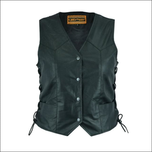 Womens Traditional Light Weight Vest - Womens Leather Vest