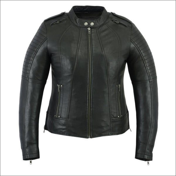 Womens Updated Biker Style Jacket - DS893 Womens Updated Biker Style Jacket