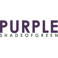 purple shade of green log with purple and green writing