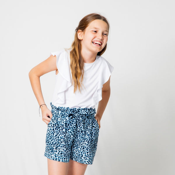 Short con lazo animal print