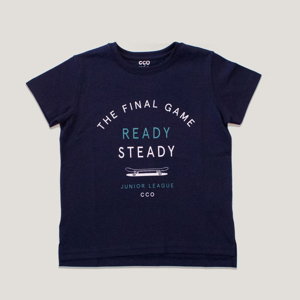 Remera ready steady azul marino pima