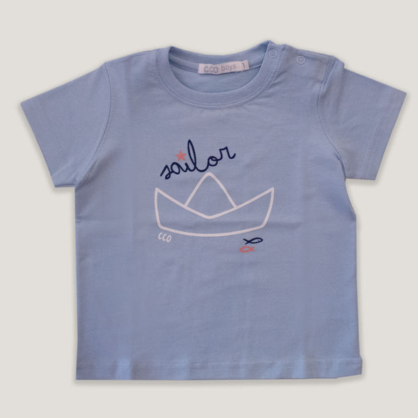 Remera sailor celeste