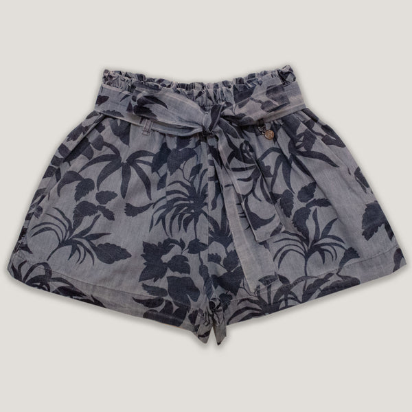 Short mar tropical con lazo