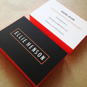 Business Cards London with Coloured Edges