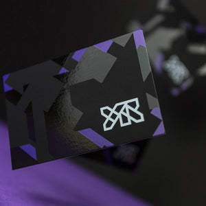 spot uv business cards with coloured edges