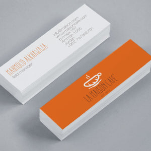 Mini Business Cards With Coloured Edge Option