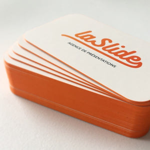 round corner business cards with coloured edges