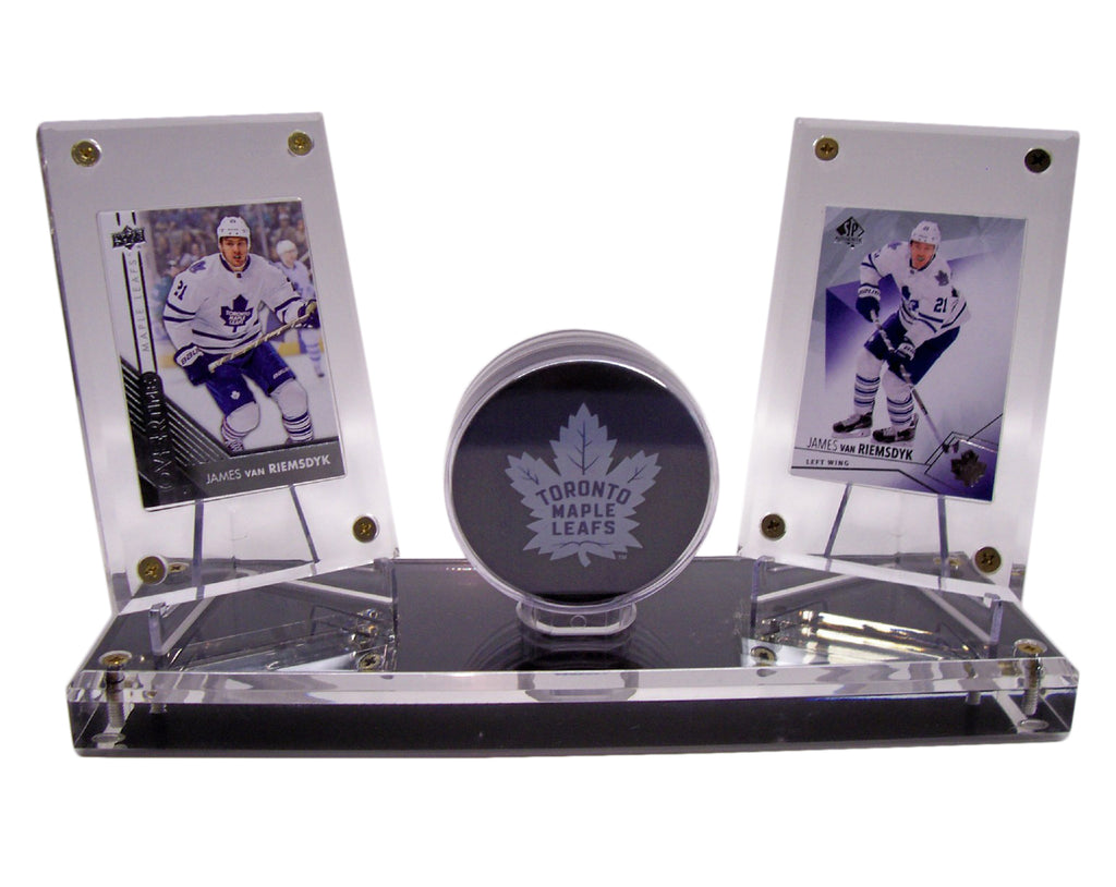 HOCKEY PUCK DOUBLE WITH OUT GOLD RIM DISPLAYS