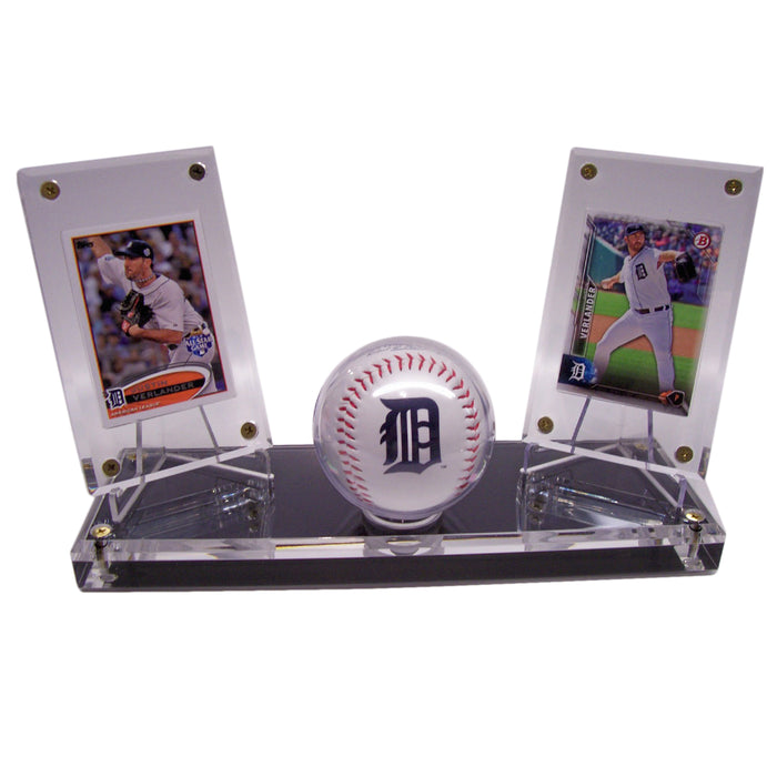 BASEBALL DOUBLE WITH OUT GOLD RIM DISPLAYS