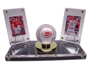 BASEBALL DOUBLE WITH GOLD RIM DISPLAYS