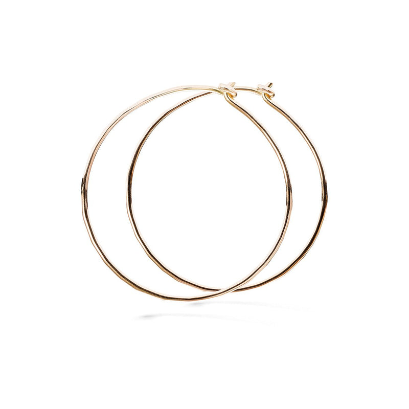 Hammered hoop - 18k red gold