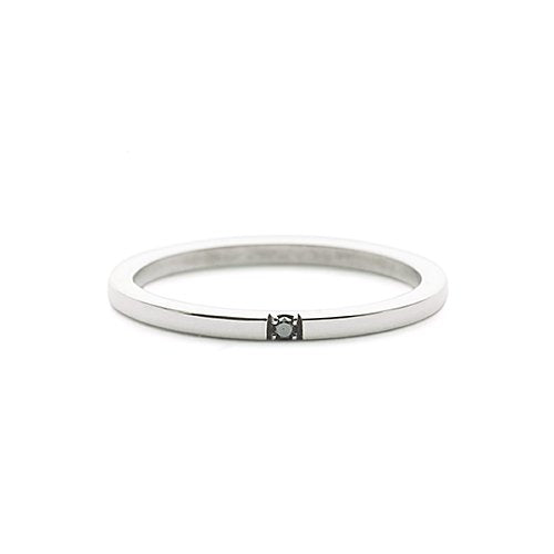 Lone star ring - Svart diamant