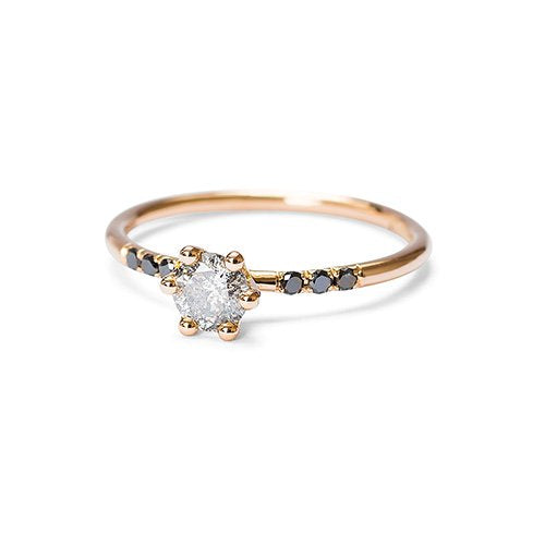 The Starlet ring - red gold