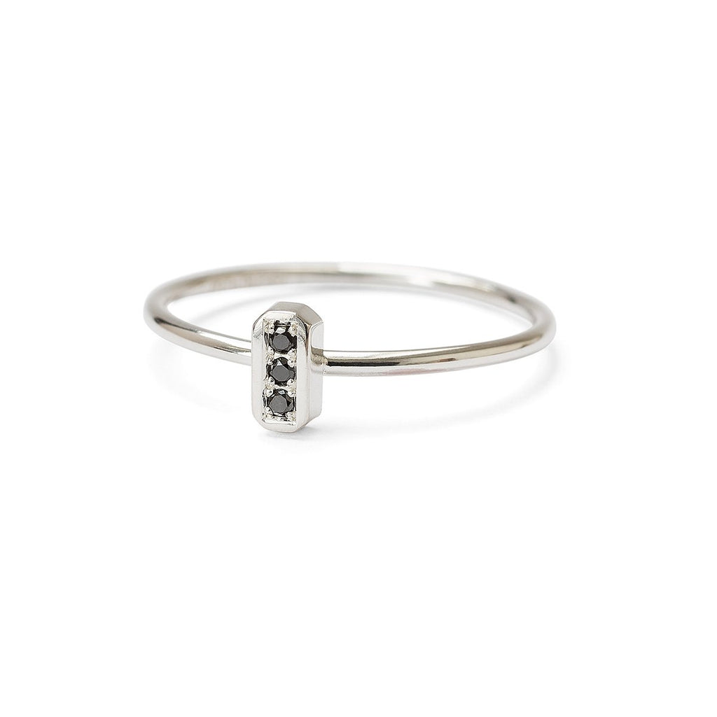 Deco ring - black diamond