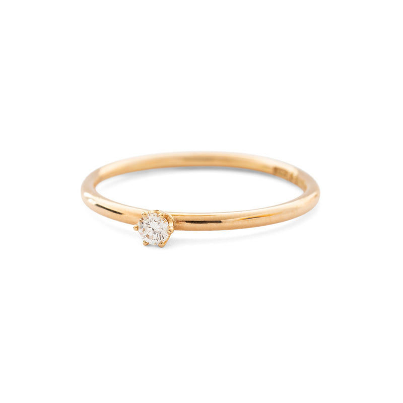 Tiny diamond ring - fair trade diamond