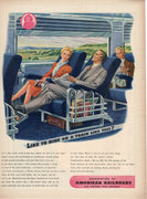 Vintage 1944 American Railroads United For Victory Train Ad
