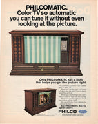 Vintage 1971 Philco Philcomatic Color TV Ad