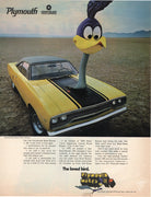 Vintage 1969 Plymouth Road Runner Chrysler Motor Corp Ad