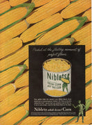 Vintage 1945 Jolly Green Giant Niblets Corn On The Cob Ad