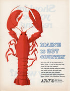 Vintage 1967 AT&T Maine Lobster 207 Country Ad