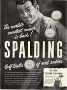Vintage 1946 Spalding Golf Balls Of Real Rubber Ad