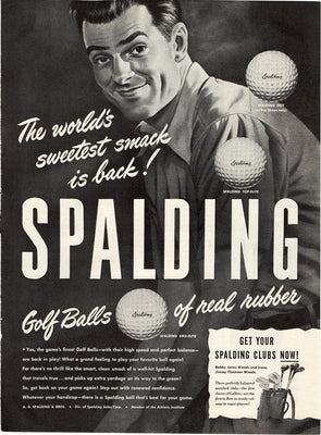 1946 Spalding Golf Balls Of Real Rubber Ad